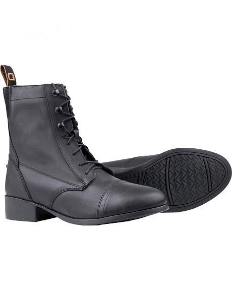 Dublin Elevation Laced Paddock Black Equestrian Boots