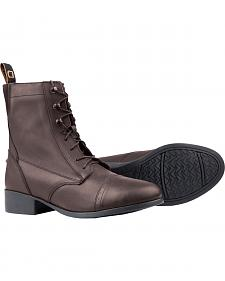 Dublin Elevation Laced Paddock Brown Equestrian Boots