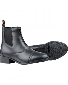 Dublin Foundation Zip Paddock Black Equestrian Boots