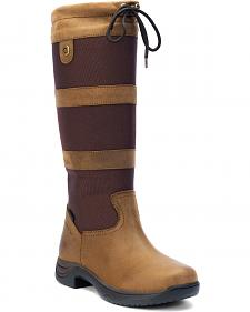 Dublin RIA Women's Chocolate Brown Equestrian Boots