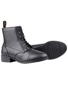 Dublin Foundation Laced Paddock Black Equestrian Boots