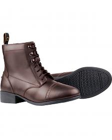 Dublin Foundation Laced Paddock Brown Equestrian Boots