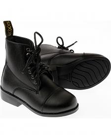 Saxon Kids' Equileather Lace Boots
