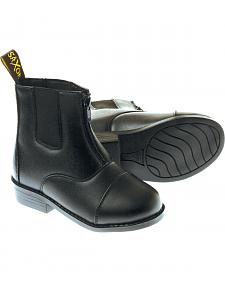 Saxon Kids' Equileather Zip-Front Boots