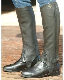 Ovation Women's Stretch Ribbed Top Grain Half Chaps