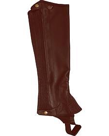 Ovation Kids' Pro Top Grain Leather Half Chaps