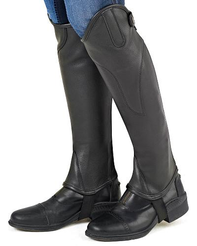 Ovation Womens TURIN Leather Half Chaps $79.95 AT vintagedancer.com