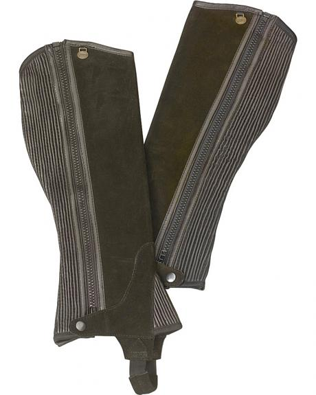 Ovation Kids' Ribbed Suede Half Chaps