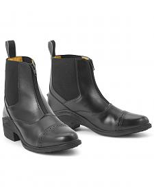 Ovation Synergy Zip Front Ladies' Black Paddock Boots