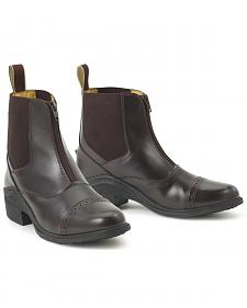 Ovation Synergy Zip Front Ladies' Brown Paddock Boots
