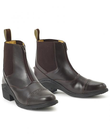 Ovation Synergy Zip Front Women's Brown Paddock Boots