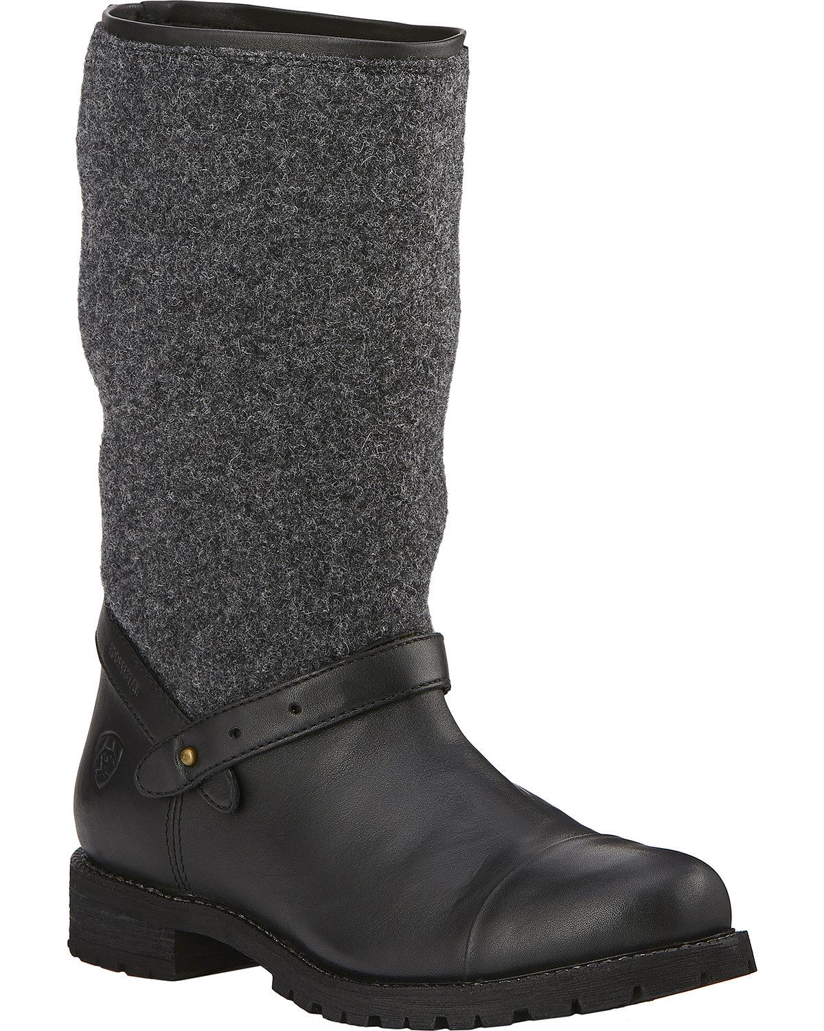 Ariat 1729 Womens Chatsworth H20 Black Winter BOOTS Shoes 7.5 ...