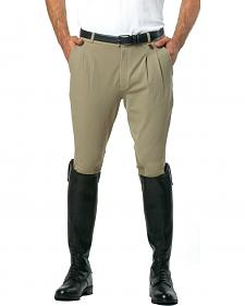 Ovation Men's Euroweave Pleat Knee Patch Breeches
