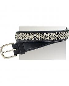 Ovation Women's Filigree Embroidered Belt