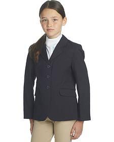Ovation Girls' Navy Herringbone Sport Riding Jacket