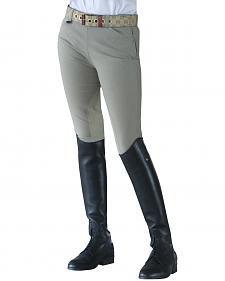 Ovation Girls' Euroweave Sidezip Breeches