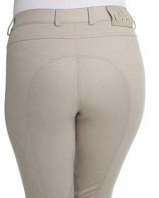 Ovation Women's Euro Jean Zip Front Knee Patch Breeches