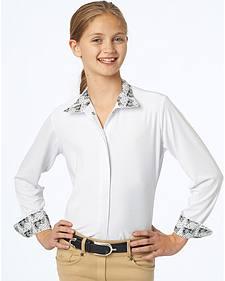 Ovation Girls' Ellie CHD Tech Show Shirt ponies