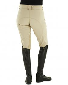 Ovation Euroweave DX Taylored Front Zip Knee Patch Breeches