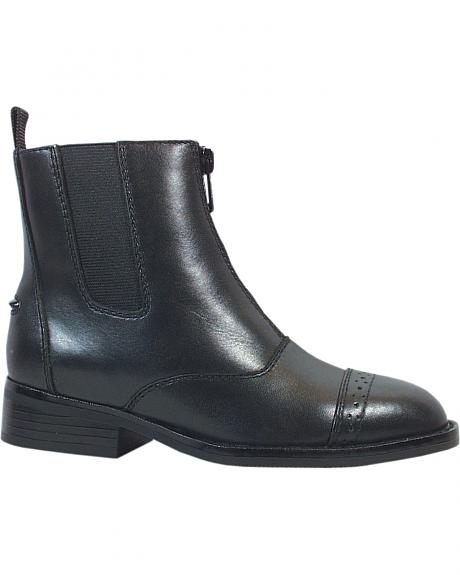 Smoky Mountain Childrens' Zipper Leather Paddock Boots