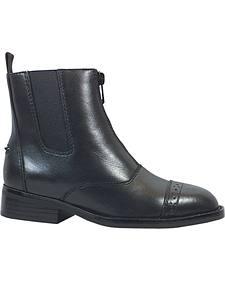 Smoky Mountain Youth Zipper Leather Paddock Boots