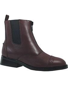 Smoky Mountain Children's Zipper Leather Paddock Boots