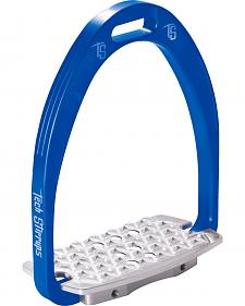 Tech Stirrups Blue Iris Cross Country Irons