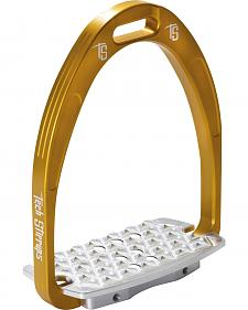 Tech Stirrups Gold Iris Cross Country Irons