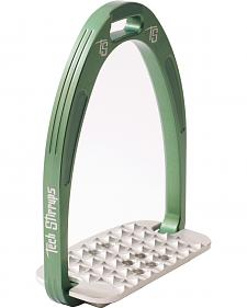 Tech Stirrups Green Iris Cross Country Irons