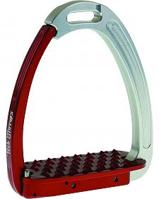 Tech Stirrups Silver and Red Tech Venice Stirrups