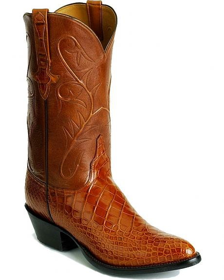Handcrafted Lucchese alligator boots - snip toe