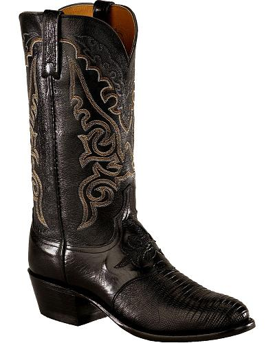 Lucchese Handcrafted Diego Lizard Inlay Western Boots Medium Toe Western & Country N1009 R4