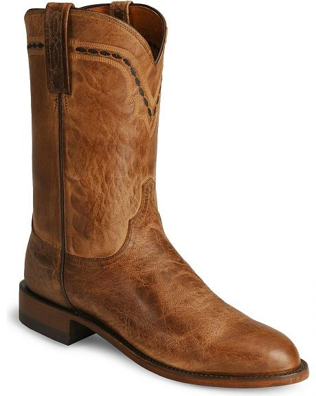 Lucchese 1883 Mad Dog Leather Roper Cowboy Boots