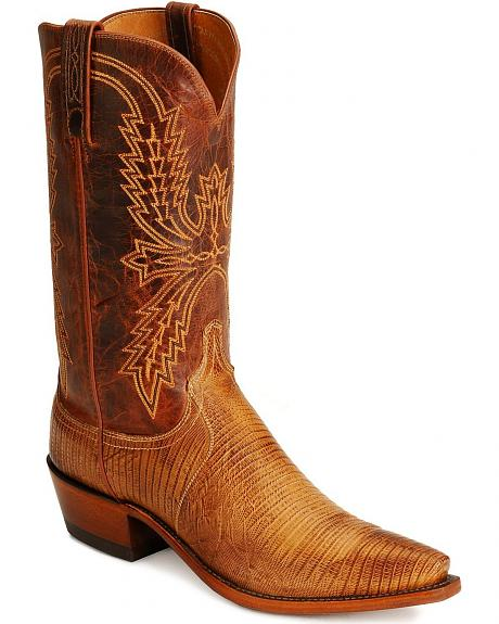 Lucchese Handcrafted 1883 Lizard Cowboy Boots