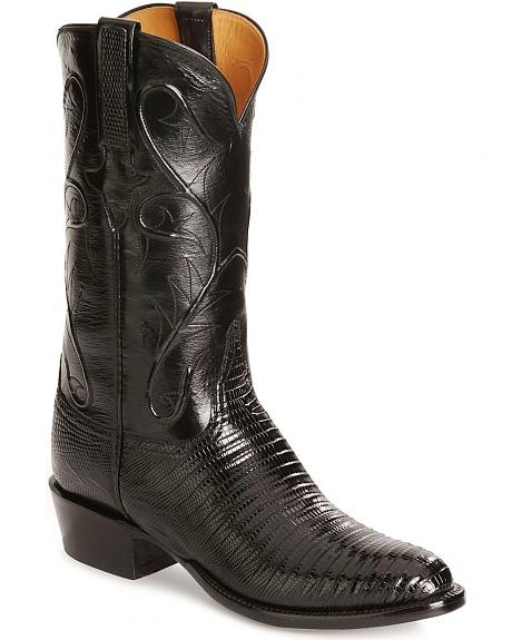 Lucchese Handcrafted Classics Lizard Cowboy Boots