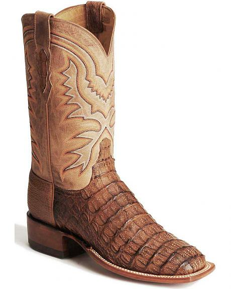 Lucchese Handcrafted 2000 Hornback Caiman Western Boots