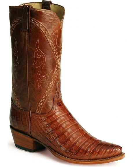 Lucchese Handcrafted Classics Silk Caiman Crocodile Belly Boots