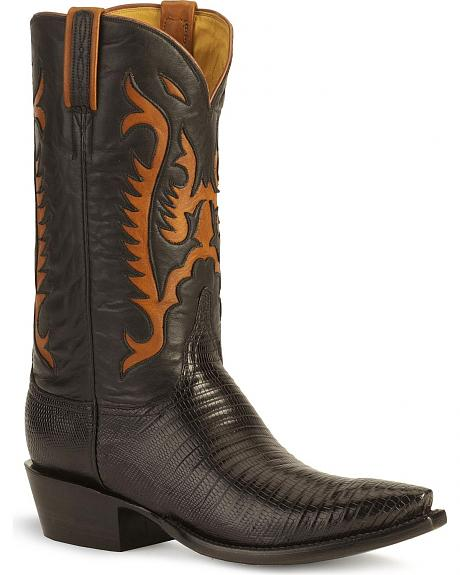 Lucchese Handcrafted Classics Lizard Western Boots