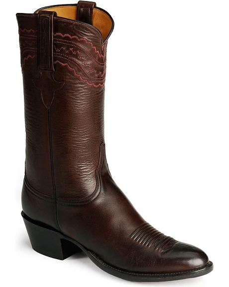 Lucchese Handcrafted Classics Mad Dog Ranch Hand Leather Cowboy Boots