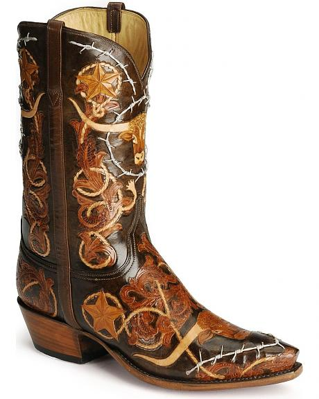 Lucchese Boots - Handcrafted Classics barbwire tooled western boots