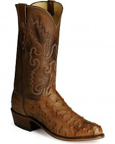 Lucchese Handcrafted 1883 Full Quill Ostrich Boots - Medium Toe