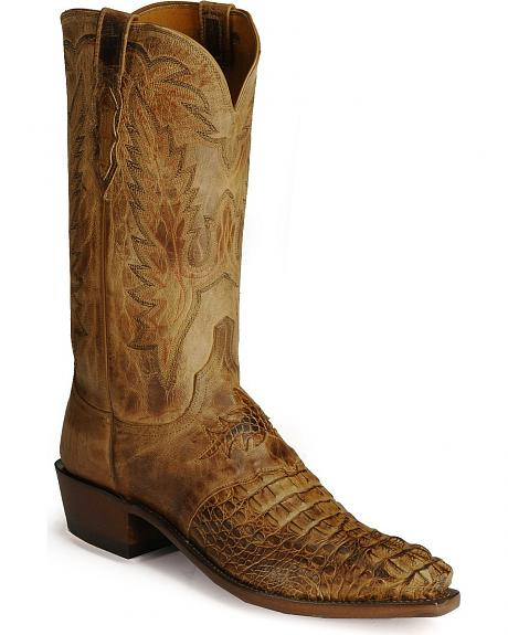 Lucchese Boots - Handcrafted 1883 Diego inlay head-cut caiman western boots