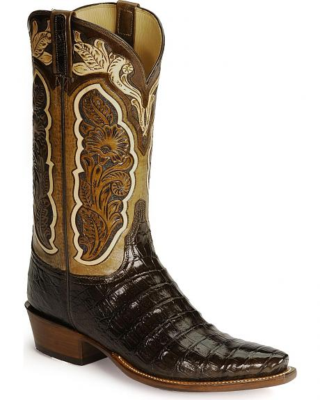 Lucchese Handcrafted Classics Tooled Caiman Boots