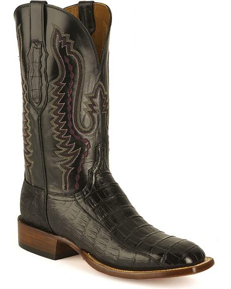 Lucchese Handcrafted Cowboy Collection Ultra Crocodile Belly Boots