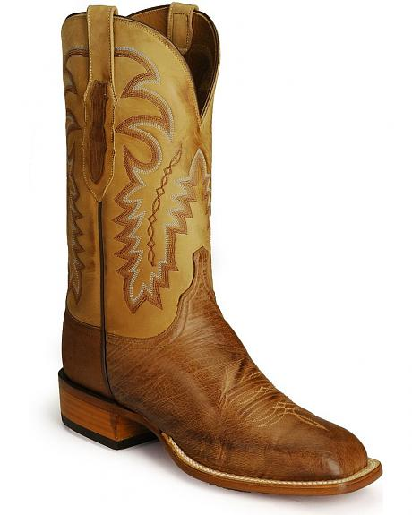 Lucchese Handcrafted  Cowboy Collection Smooth Ostrich Boots