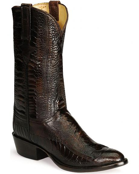 Lucchese Boots - Handcrafted Classics Full Quill Ostrich Leg Cowboy Boots