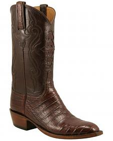 Lucchese Handcrafted Classics Diego Inlay Ultra Caiman Belly Boots