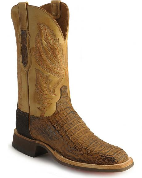 Handcrafted Lucchese Cowboy Collection caiman western boots