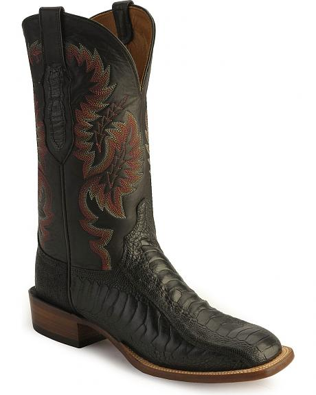 Lucchese Handcrafted Cowboy Collection Ostrich Leg Western Boots