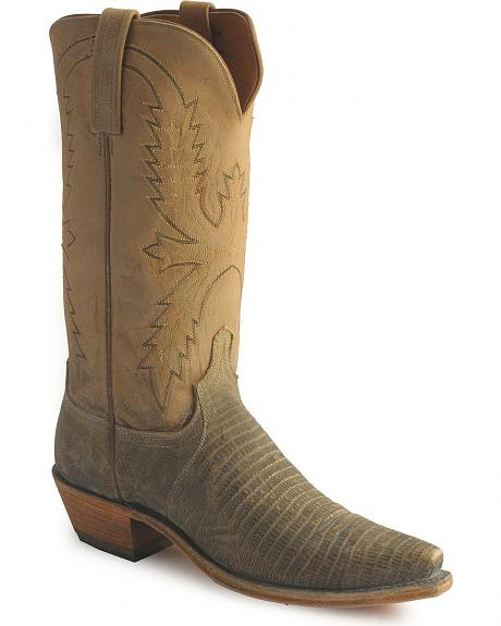 Lucchese Handcrafted 1883 Stonewashed Lizard Boots
